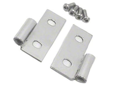 Rugged Ridge Stainless Steel Lower Door Hinge - Pair (87-06 Jeep Wrangler YJ & TJ)