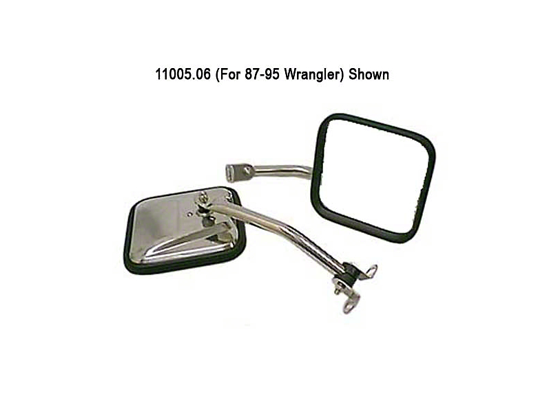Rugged Ridge Stainless Steel Mirror Kit (87-95 Jeep Wrangler YJ)