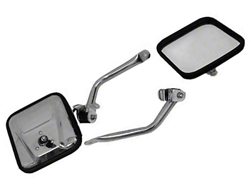Rugged Ridge Stainless Steel Mirror Kit (97-06 Jeep Wrangler TJ)