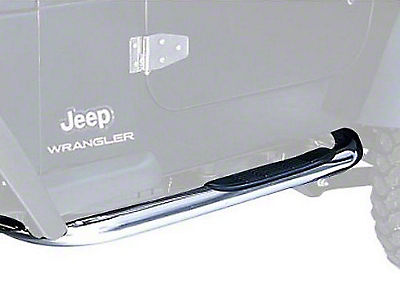 Rugged Ridge Side Step Bars - Stainless Steel (97-06 Jeep Wrangler TJ, Excluding Unlimited)