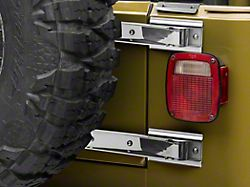 Rugged Ridge Tailgate Hinge - Stainless Steel - Pair (97-06 Jeep Wrangler TJ)
