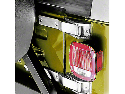 Rugged Ridge Stainless Steel Tailgate Hinge Pair (87-95 Wrangler YJ)