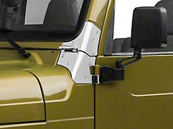 Rugged Ridge Windshield Hinges - Stainless Steel (97-06 Jeep Wrangler TJ)