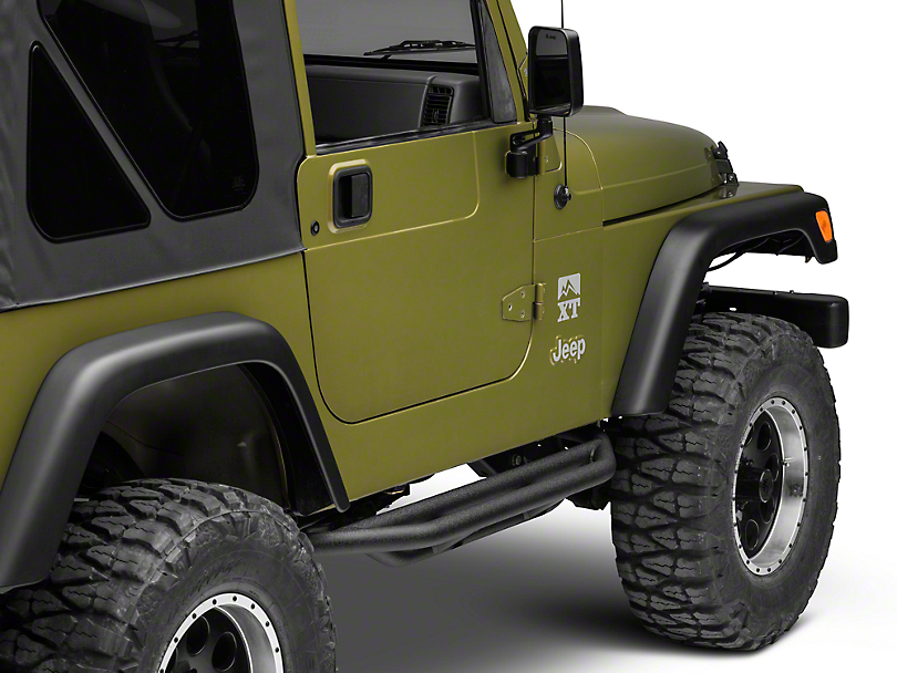 Rugged Ridge Rock Crawler Side Armor - Textured Black (87-06 Jeep Wrangler YJ & TJ, Excluding Unlimited)