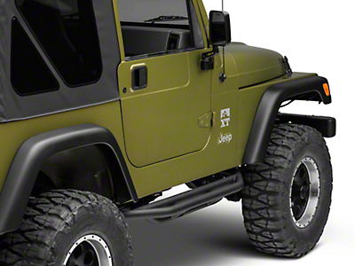 Rugged Ridge Rock Crawler Side Armor - Textured Black (87-06 Wrangler YJ & TJ)