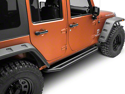 Rugged Ridge Textured Black Side Armor Nerf Bars (07-18 Wrangler JK 4 Door)