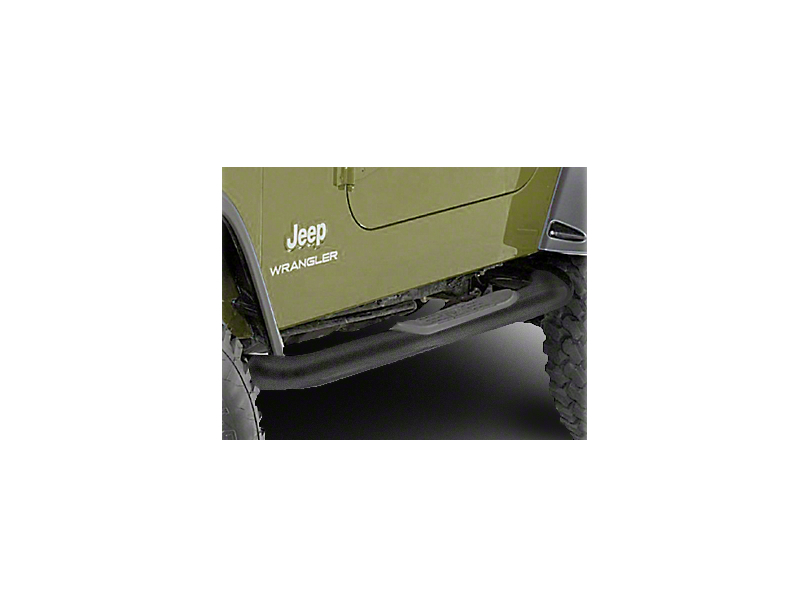 Rugged Ridge Side Step Bars - Textured Black (87-95 Jeep Wrangler YJ)