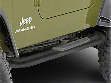 Rugged Ridge Side Step Bars - Textured Black (87-95 Jeep Wrangler YJ)