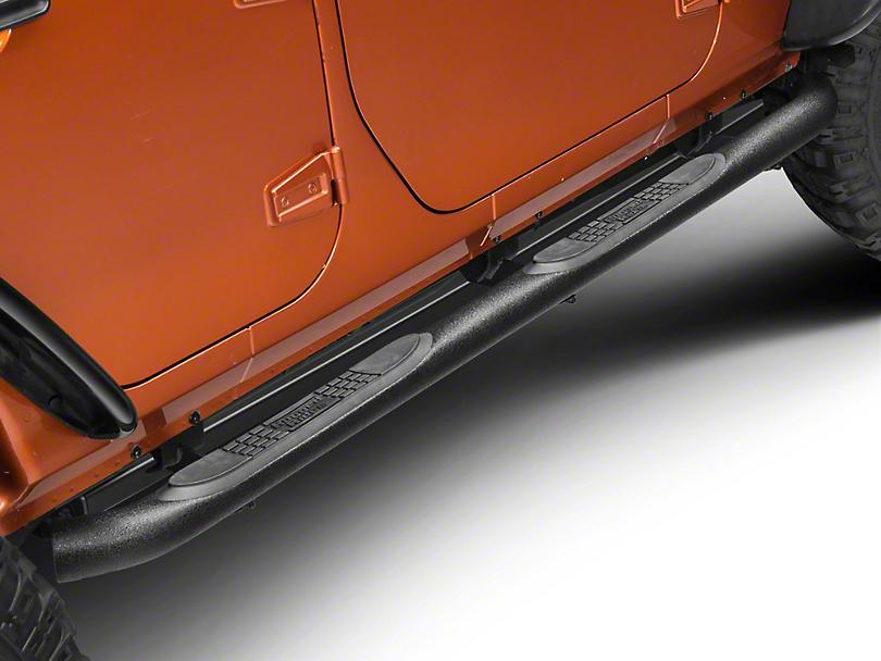 Rugged Ridge Side Step Bars - Textured Black (07-18 Jeep Wrangler JK 4 Door)