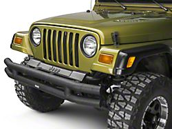 Rugged Ridge Tubular Front Bumper - Textured Black (87-06 Jeep Wrangler YJ & TJ)