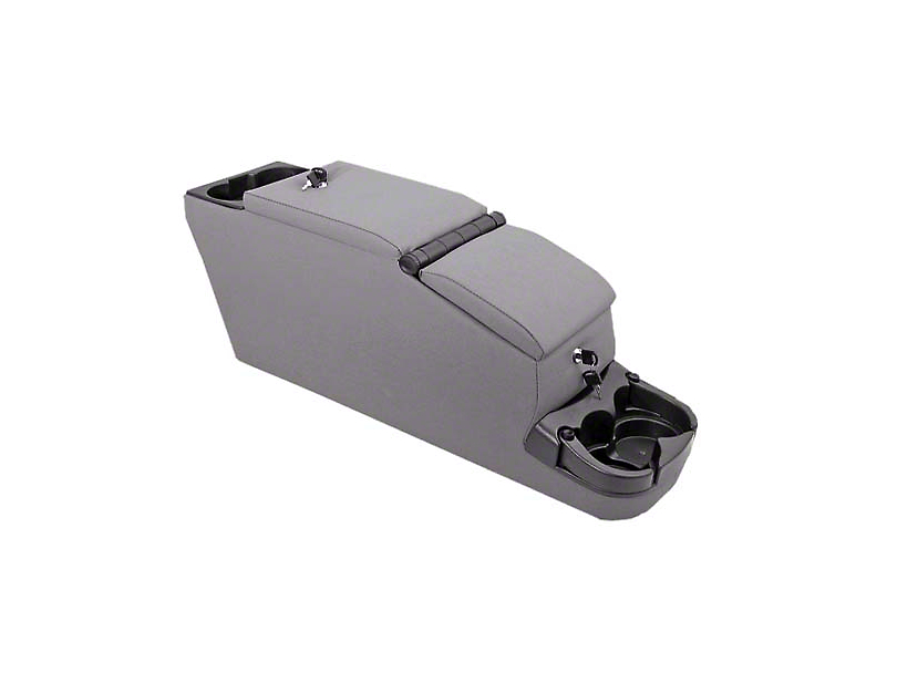 Rugged Ridge Ultimate II Locking Center Console; Gray (87-95 Jeep Wrangler YJ)