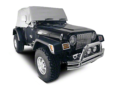 Rugged Ridge Water Resistant Cab Cover - Gray (92-06 Jeep Wrangler YJ & TJ)