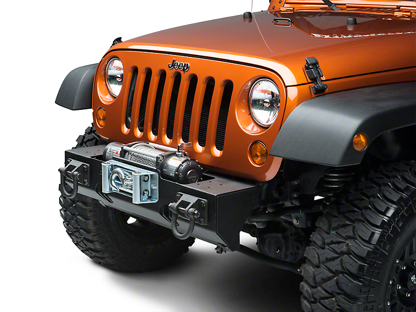 Rugged Ridge Modular XHD Winch Mount Front Bumper - Textured Black (07-18 Jeep Wrangler JK)