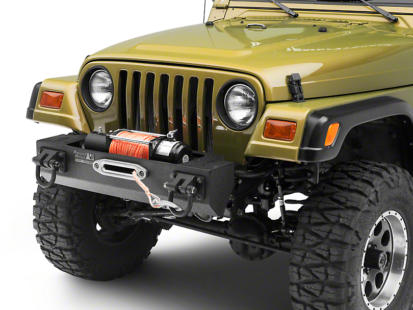 Rugged Ridge Modular XHD Front Bumper w/ Winch Mount - Textured Black (87-06 Jeep Wrangler YJ & TJ)