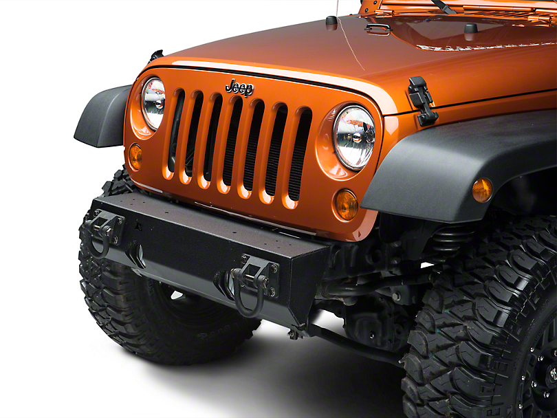 Rugged Ridge Modular XHD Non-Winch Mount Front Bumper - Textured Black (07-18 Jeep Wrangler JK)