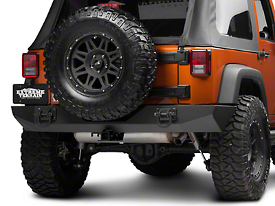 Rugged Ridge Xtreme Heavy Duty Rear Bumper - Textured Black (07-18 Wrangler JK)