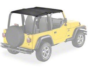 Bestop Safari-Style Strapless Bikini Top - Black Denim (97-02 Jeep Wrangler TJ)