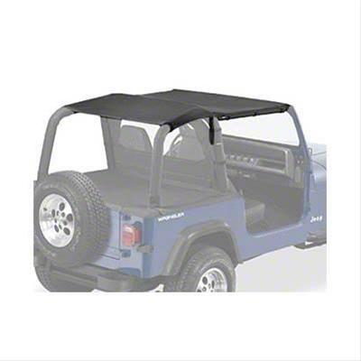 Bestop Safari-Style Strapless Bikini Top - Black Denim (92-95 Jeep Wrangler YJ)