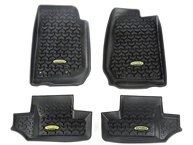 Steinjager Floor Mats; Front and Rear; 2-Door (07-18 Jeep Wrangler JK)
