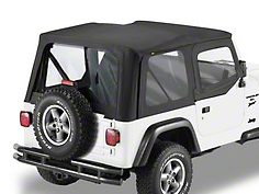Bestop Sailcloth Replace-A-Top w/ Clear Windows - Black Vinyl (88-95 Jeep Wrangler YJ w/ Steel Half Doors)