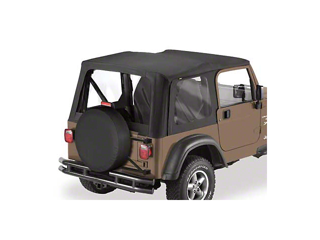 Bestop Sailcloth Replace-A-Top w/ Clear Windows - Black Diamond (03-06 Jeep Wrangler TJ w/ Full Steel Doors)