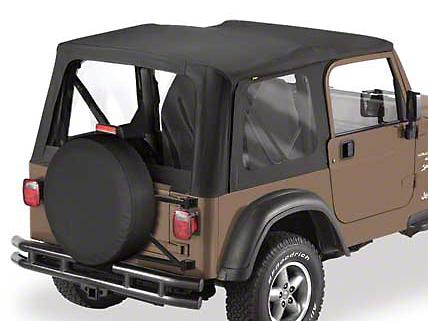 Bestop Sailcloth Replace-A-Top w/ Clear Windows - Black Diamond (03-06 Jeep Wrangler TJ w/ Full Steel Doors)