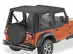 Bestop Sailcloth Replace-A-Top w/ Clear Windows - Black Vinyl (97-02 Wrangler TJ w/ Steel Half Doors)