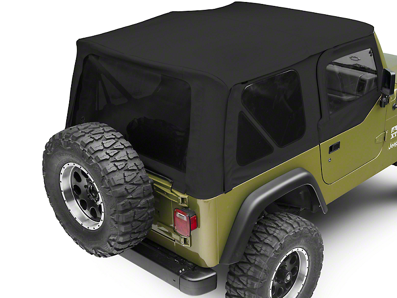 Bestop Sailcloth Replace-A-Top w/ Tinted Windows - Black Vinyl (97-02 Jeep Wrangler TJ w/ Half Steel Doors)