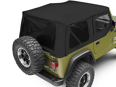 Bestop Sailcloth Replace-A-Top w/ Tinted Windows - Black Vinyl (97-02 Wrangler TJ w/ Half Steel Doors)
