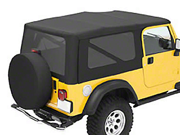 Bestop Sailcloth Replace-A-Top w/ Tinted Windows - Black Diamond (04-06 Wrangler TJ Unlimited)