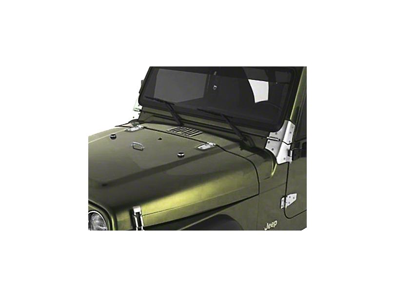Rugged Ridge Satin Stainless Steel Hood Set (98-06 Jeep Wrangler TJ)