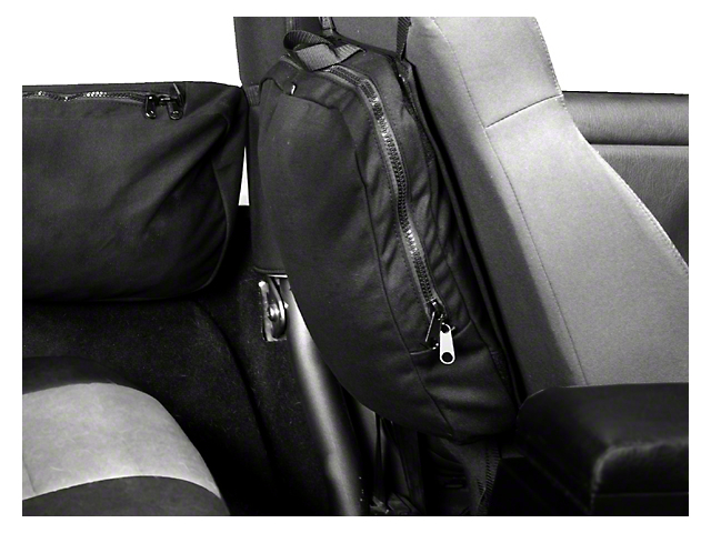 Rugged Ridge Detachable Seat Back Trail Bag w/ Hook & Loop Attachment (87-19 Jeep Wrangler YJ, TJ, JK & JL)