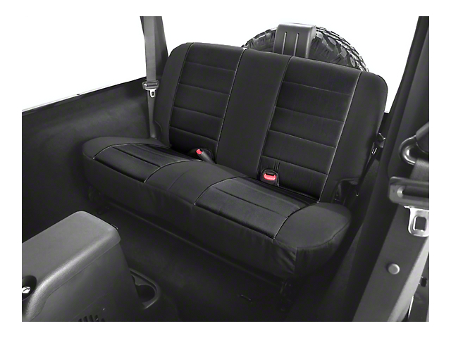 Rugged Ridge Fabric Rear Seat Cover; Black (97-02 Jeep Wrangler TJ)