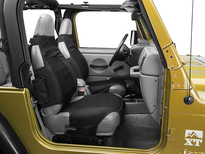 Rugged Ridge Seat Protector Pair - Black (87-06 Wrangler YJ & TJ)