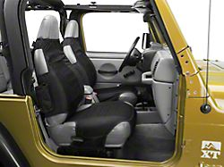 Rugged Ridge Seat Protectors - Black (87-06 Jeep Wrangler YJ & TJ)