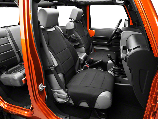 Rugged Ridge Neoprene Front Seat Protectors - Black (07-19 Jeep Wrangler JK & JL)