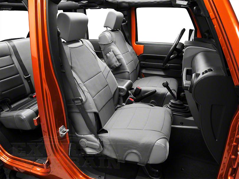 Rugged Ridge Neoprene Front Seat Protectors - Charcoal Gray (07-19 Jeep Wrangler JK & JL)