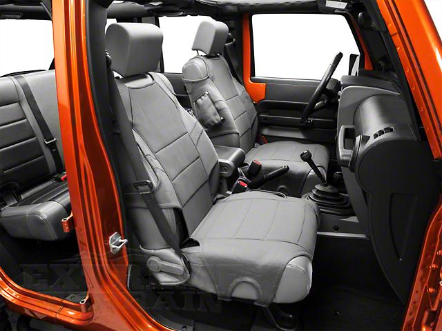 Rugged Ridge Neoprene Front Seat Protectors - Charcoal Gray (07-20 Jeep Wrangler JK & JL)