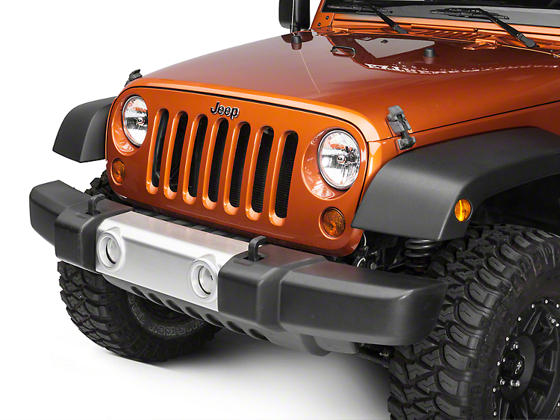 Rugged Ridge Silver Front Bumper Applique (07-18 Jeep Wrangler JK)