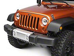 Rugged Ridge Front Bumper Applique - Silver (07-18 Jeep Wrangler JK)