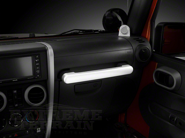 Rugged Ridge Interior Grab Bar Trim; Brushed Silver (07-10 Jeep Wrangler JK)
