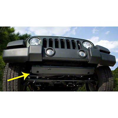 Rugged Ridge Front Skid Plate - Black (07-18 Jeep Wrangler JK)