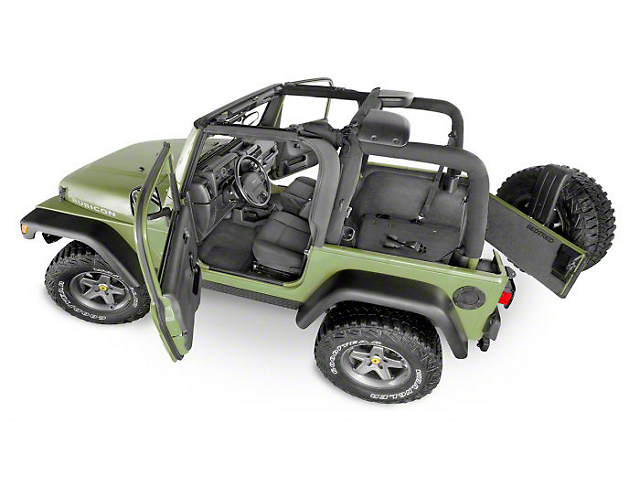 BedRug BedTred Cargo Mat with Gap Hider (18-21 Jeep Wrangler JL 4-Door, Excluding 4xe)