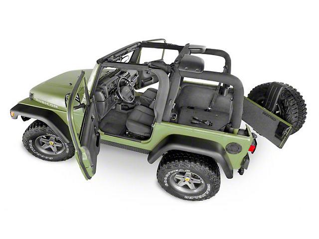 BedRug BedTred Front Floor Mats (18-21 Jeep Wrangler JL 4-Door)