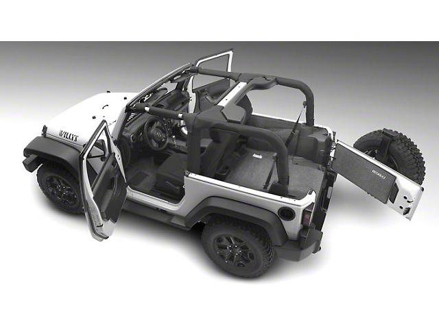 BedRug Carpet Cargo Mat without Gap Hider (18-21 Jeep Wrangler JL 4-Door, Excluding 4xe)