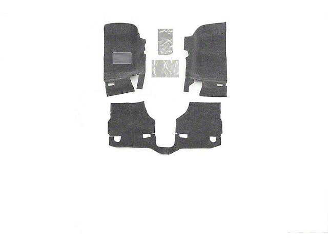 BedRug Carpet Front and Rear Floor Mats (18-21 Jeep Wrangler JL 4-Door, Excluding 4xe)