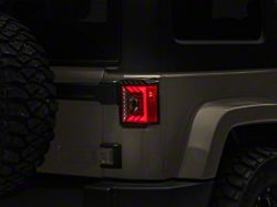 Renegade Series LED Tail Lights; Black Housing; Smoked Lens (07-18 Jeep Wrangler JK)