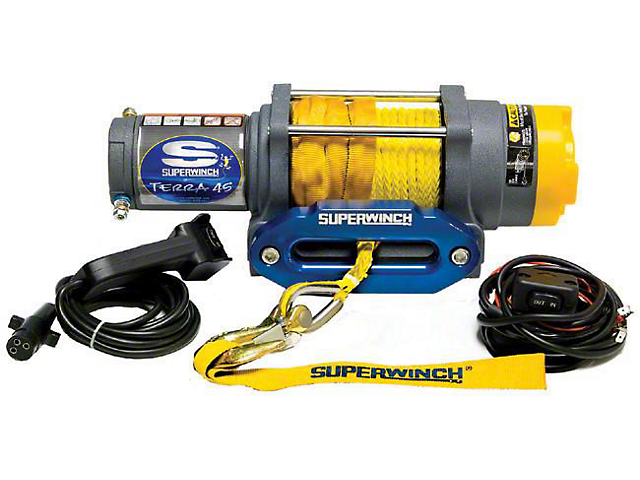 Superwinch 4,500 lb. Terra 45SR Winch with Synthetic Rope (Universal; Some Adaptation May Be Required)