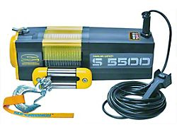 Superwinch 5,500 lb. S5500 Winch with Steel Cable (Universal; Some Adaptation May Be Required)
