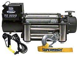 Superwinch 9,500 lb. Tiger Shark 9500 Winch with Steel Cable (Universal; Some Adaptation May Be Required)